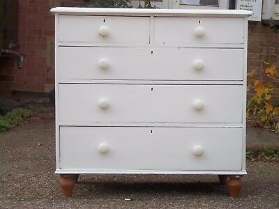 Antique Pine Victorian  Chest of Drawers