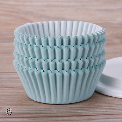 Mint Green 100PCS Mini Paper Cupcake Case Wrapper Muffin Baking Cups DF