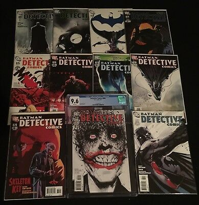 Detective Comics #871- 880 Jock Joker Cover CGC 9.6, 881 Snyder! High Grades!