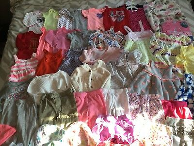 47 Piece Baby Girl Clothes Lot 3-6 Months