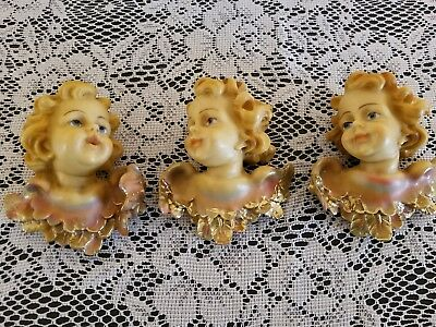 Vintage Columbia Cherubs Wall Hangings Angel Decor Catholic Christianity 3 pcs