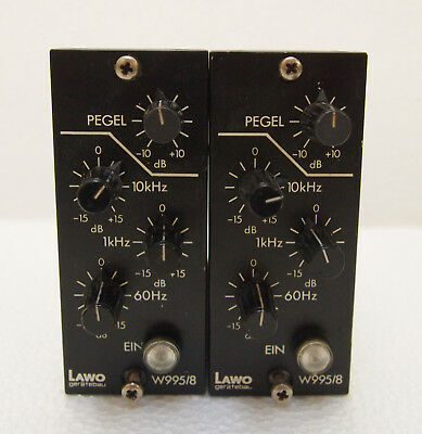 Matched Pair Lawo Vintage EQ`s Filter W995-8 B1 Format   Makeup Gain Preamp !
