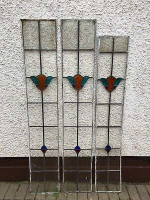 1930s Stained Glass Panels