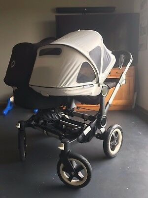 Bugaboo Donkey Duo With Bassinet/ Rain Covers