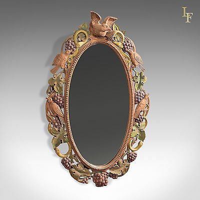 Early to mid 20th Century Carved Wall Mirror, Anglo Indian, Decorative