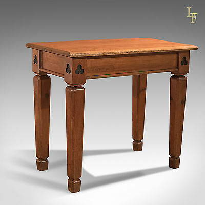 Antique Side Table, Victorian, Pitch Pine, Alter, English, Church, Hall c.1860