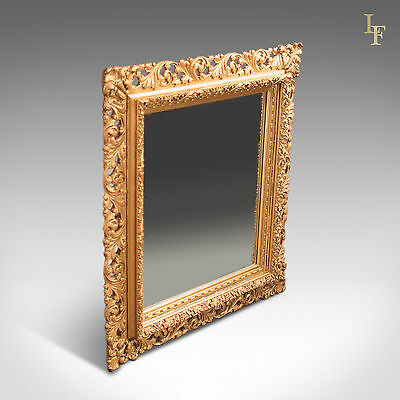 Mid-Century Classical Revival, Wall Mirror in Gilt Gesso, English, Hall, Frame