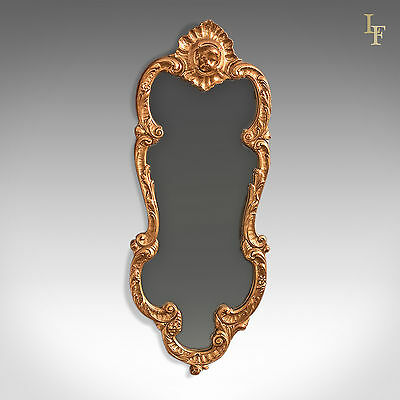 Period Giltwood Wall Mirror, Early 20th Century Hall, Vanity, Rococo Revival