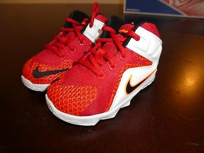 6d3627fc4c9 LEBRON TODDLERS NIKE Lebron XII TD shoes sneakers new 685185 602 ...