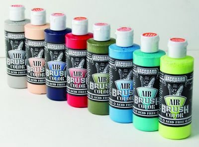 Jacquard Airbrush Paint Sneaker Series 4oz - 8 Colours - Leather Fabric Mesh