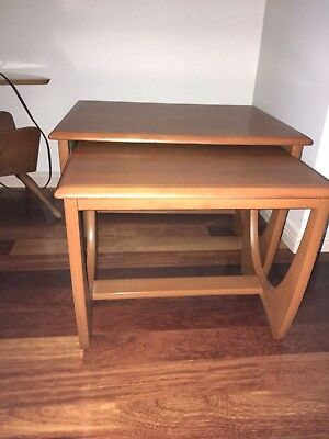 KALMAR Pair Nesting Tables Teak Retro Vintage Danish Mid Century