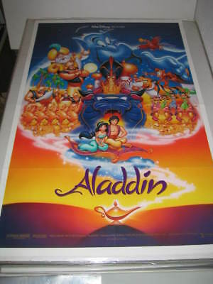 ALADDIN DISNEY (1992) US AUTHENTIC ORIGINAL 27x41 DS MOVIE POSTER (468)