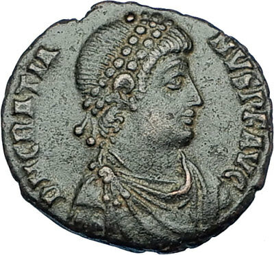 GRATIAN Genuine 378AD Antioch Authentic Ancient Roman Coin ROMA Seated  i65876