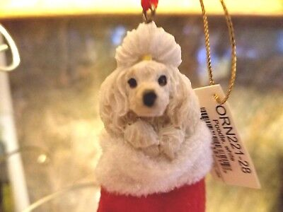 New! Poodle White,Dog Christmas Ornament