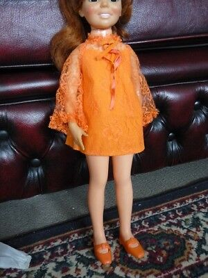 Crissy Doll Classic Orange outfit  Original 70s Items