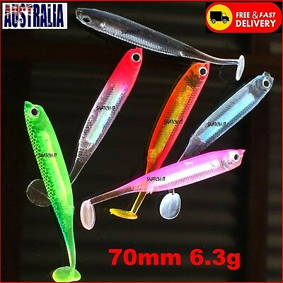 6 Soft Plastics Fishing lure Freshwater Bream Bass Trout  whiting Flathead Lures
