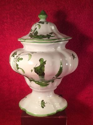 Antique French Faience Chinoiserie Covered Urn c.1800's, ff511  GIFT QUALITY!!