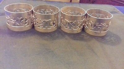 Vintage silver plated set of 4 napkin rings