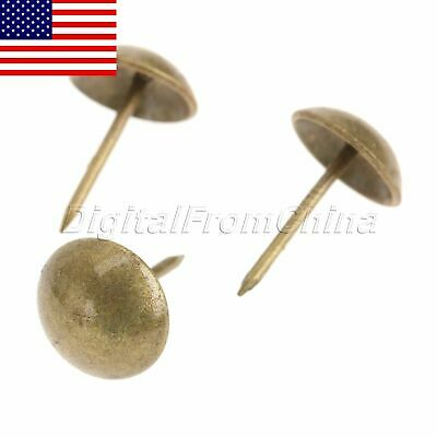 Durable 100Pcs Antique Round Upholstery Nails Studs for Sofa Box Case Decorative