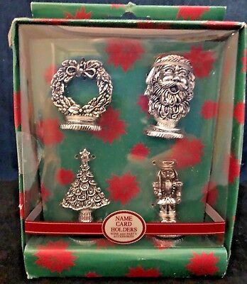 Set of 4  Place Card Holders, christmas themed ,in orig package
