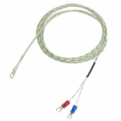 9mm x 5mm Probe Ring K Type Thermocouple Temperature Sensor 2M 6.6Ft CT B7Q T2R6