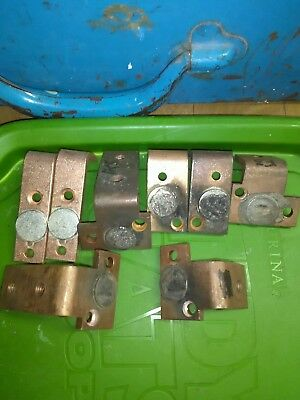 8Large Scrap Industrial Silver Contacts for Silver Recovery Refining!