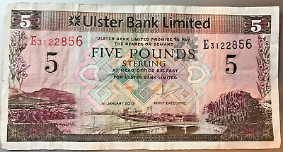 IRELAND North 5 Pounds 2013 Banknote