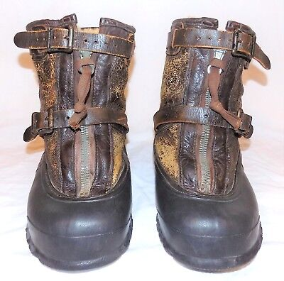 Vtg WW2 US Air Forces Overshoe Flying Heavy Type A-1 Lined Boots Bristolite