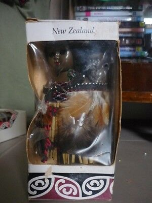 Vintage 60's New Zealand Maori Wahine Doll and Baby, Still in Box. #2