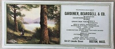 Vintage Advertising Ink Blotter, Gardiner, Beardsell & Co. Boston