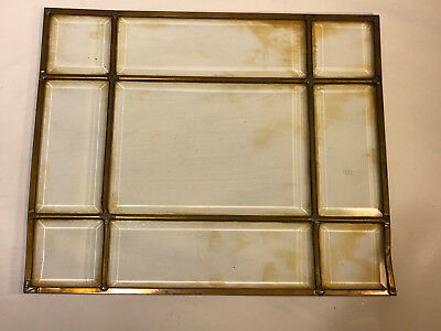 Antique Marine Nautical Leaded Stained Beveled Glass Copper Brass Frame Filament