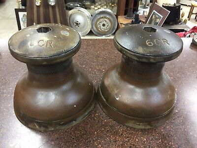 Vintage Brass / Bronze Winches GIBB 6CR  Use them or BOOK ENDS! Nautical AWESOME