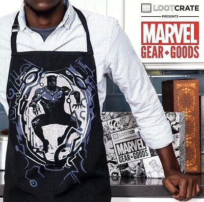 BLACK PANTHER WAKANDA Cooking Apron Marvel Gear + Goods Loot Crate