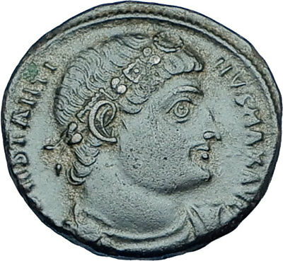CONSTANTINE I the GREAT 330AD Authentic Ancient Roman Coin w SOLDIERS i65914