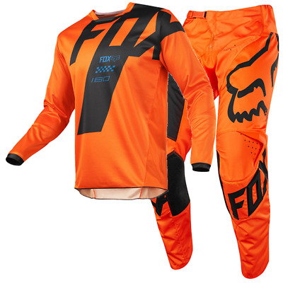 New FOX Racing MX 2018 180 MASTAR ORANGE Mens Motocross Jersey & Pants Outfit