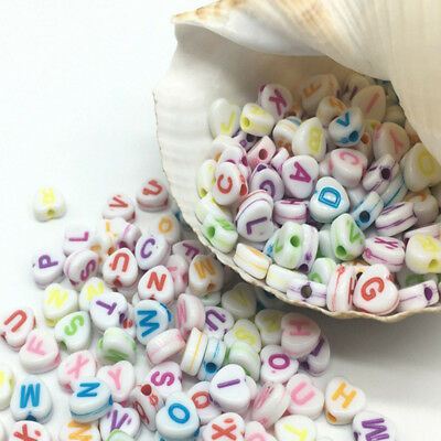 50pcs 11x11mm love Heart Alphabet Letters Acrylic Beads For DIY Jewelry Findings