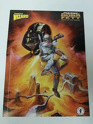 Wizard Comic Book Magazine 2 Sided Poster Star Wars Boba Fett + Spawn 1999