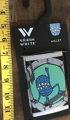 Boys Shaun White Blue Gray Black Bi-Fold Wallet