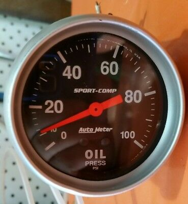 autometer sport comp oil pressure gauge. mechanical