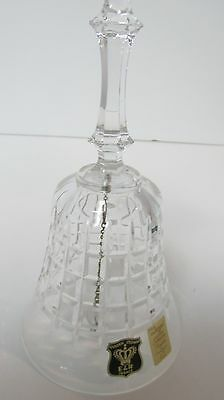"""Vintage Bayel Lead Crystal Bell Golden Crown E and R France 6""""  Mid Century"""