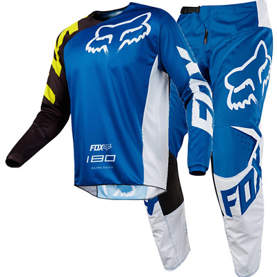 New FOX Racing MX 2018 180 RACE BLUE Mens Motocross Jersey & Pants Outfit Moto