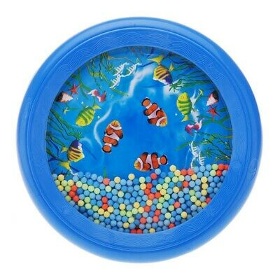 Ocean Wave Bead Drum Gentle Sea Sound Musical Educational Toy Tool for Baby A5P6
