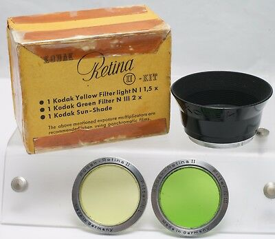 Rare - Mint Boxed - Kodak Retina II Folding Camera Lens Hood & Filter Kit 29.5mm
