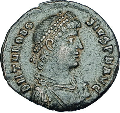 THEODOSIUS I the GREAT Genuine 378AD Antioch Authentic Ancient Roman Coin i65942