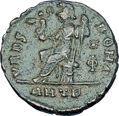 VALENTINIAN II 378AD Antioch Authentic Ancient Roman Coin VRBS ROMA i65946