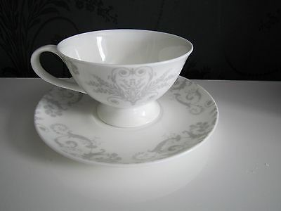 Laura Ashley Josette Dove Grey Cup & Saucer (Bone China) - RRP $59.95