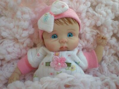 Cute 6  Inch Polymer Clay Doll  Sculpted By Joni Inlow/ Dolly Street Nurseries