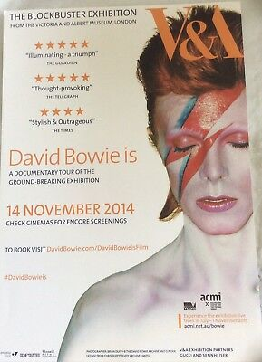 Very Rare Promotional Flyer - V & A David Bowie Is... Melbourne Australia 2014