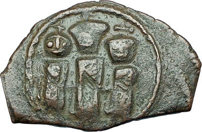 HERACLIUS & MARTINA w Son H Constantine 610AD Ancient Byzantine Coin i65952