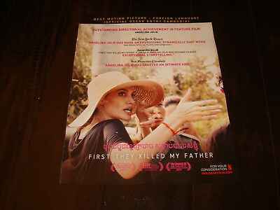 FIRST THEY KILLED MY FATHER 2017 Oscar ad Angelina Jolie directing, Cambodia